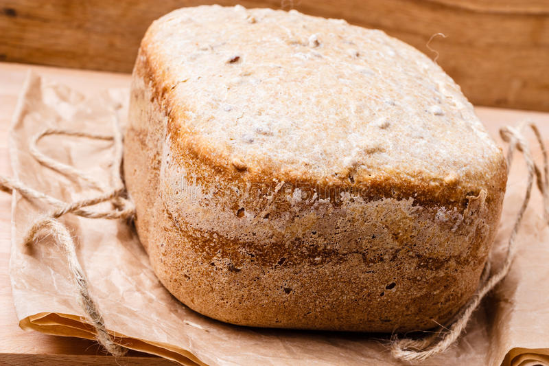 Brood van brood bij de steun van document royalty-vrije stock foto