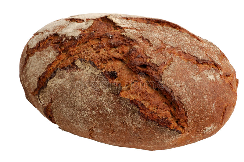 Brood van Brood dat op wit wordt geïsoleerdn stock foto