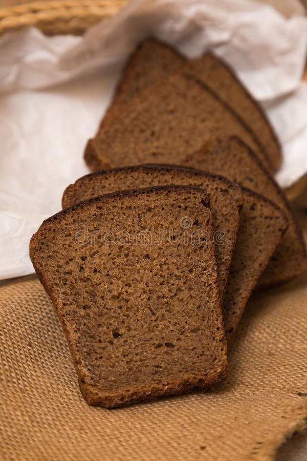 Brood van brood en roggeoren stock afbeelding