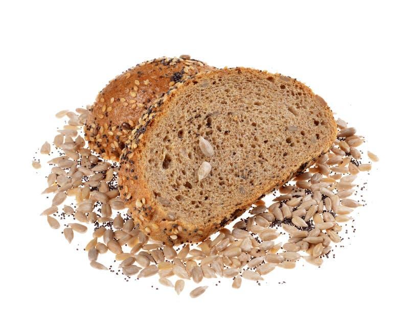 Brood van de plakken het gehele korrel stock afbeelding