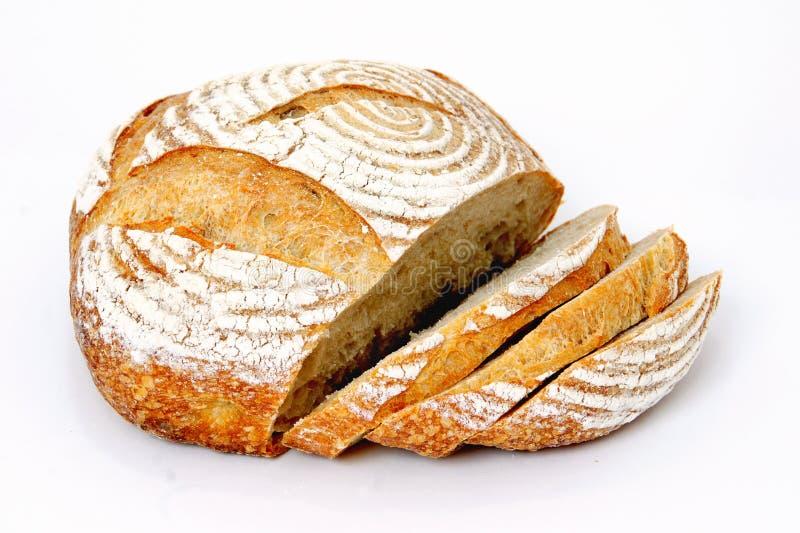 Brood van gesneden zuurdesembrood royalty-vrije stock afbeelding