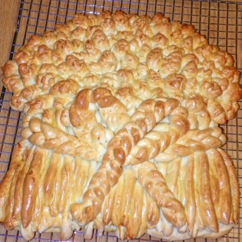 Brood wordt gemaakt om als Tarweschede te kijken die royalty-vrije stock afbeeldingen