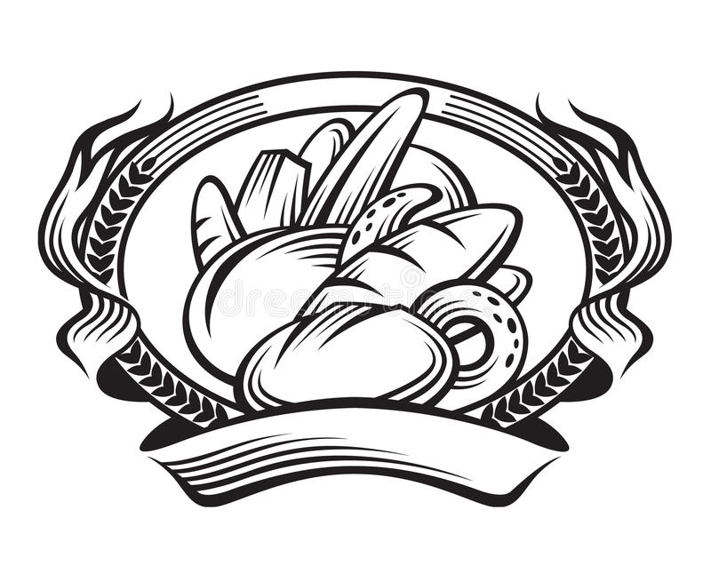 Broodbanner stock illustratie
