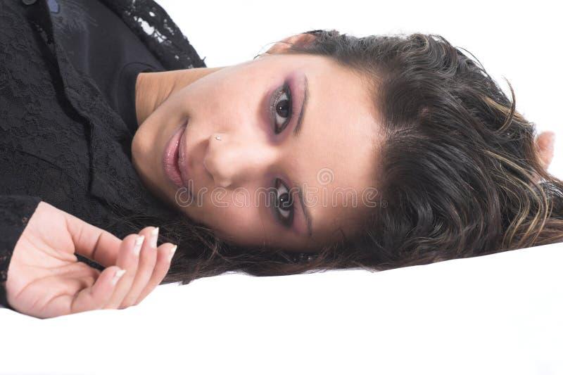 Brooding beauty stock photos