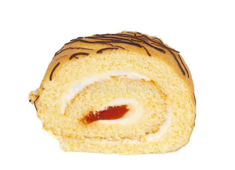 Broodje met geïsoleerdea room stock foto
