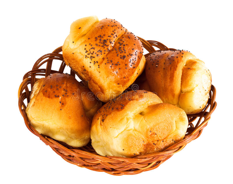 Broodje met geïsoleerdei marmelade royalty-vrije stock foto's