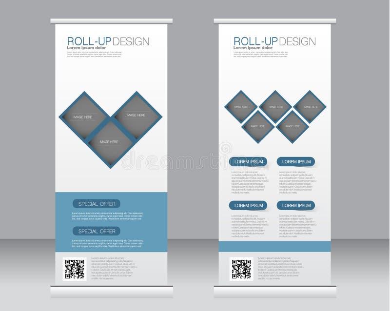 Broodje op het malplaatje van de bannertribune Abstracte achtergrond voor ontwerp, zaken, onderwijs, reclame royalty-vrije illustratie