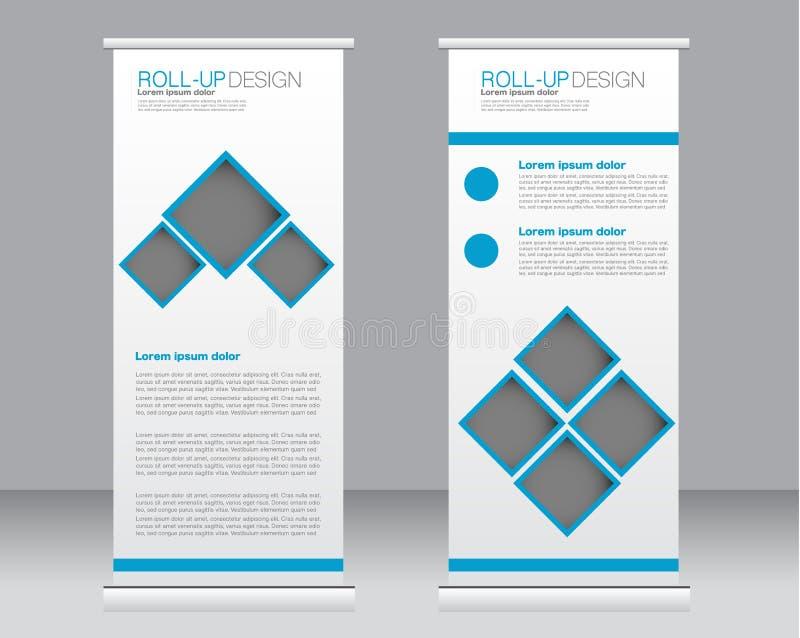 Broodje op het malplaatje van de bannertribune Abstracte achtergrond voor ontwerp, zaken, onderwijs, reclame stock illustratie