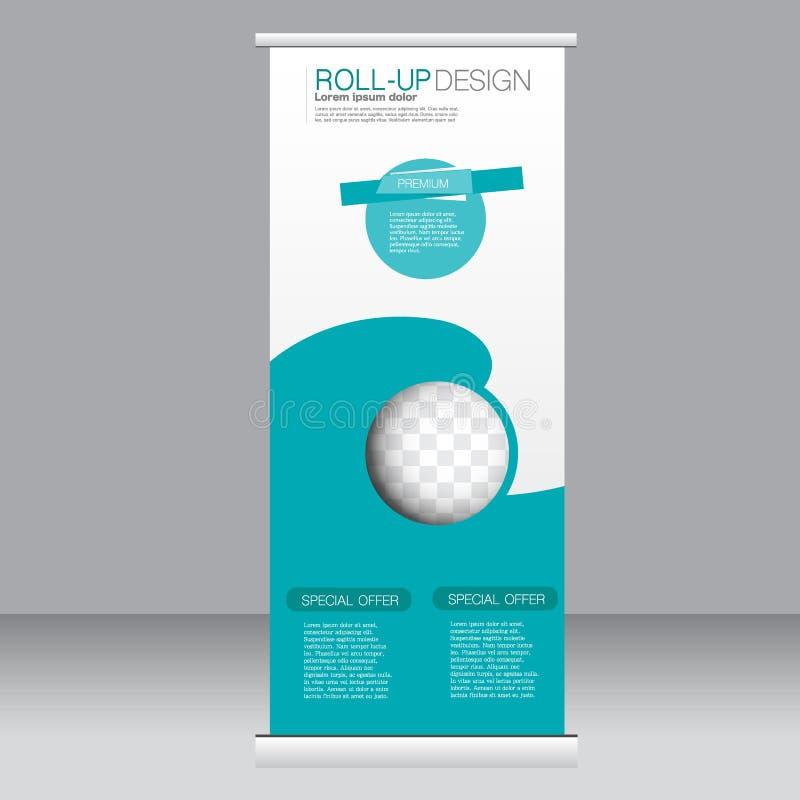 Broodje op het malplaatje van de bannertribune Abstracte achtergrond voor ontwerp, zaken, onderwijs, reclame Groene Kleur Vectori stock illustratie
