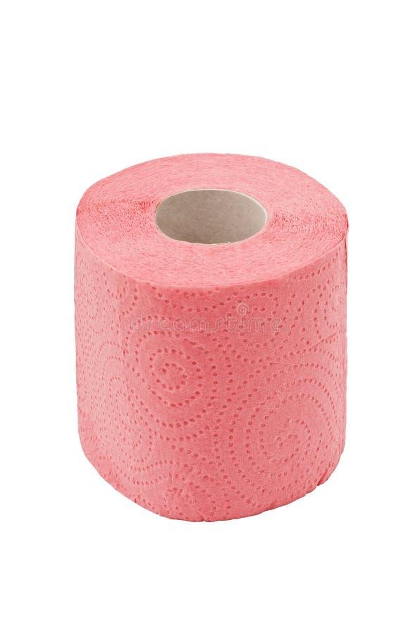 Broodje van een toiletpapier, dat op wit wordt geïsoleerde stock foto