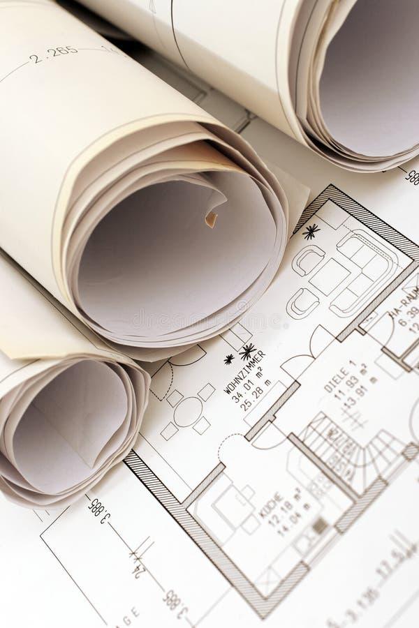 Broodje van plannen stock fotografie