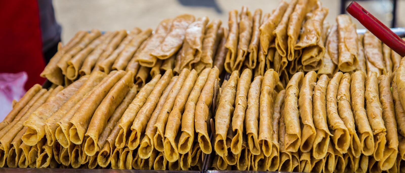 Broodje van tacoshells stock afbeelding