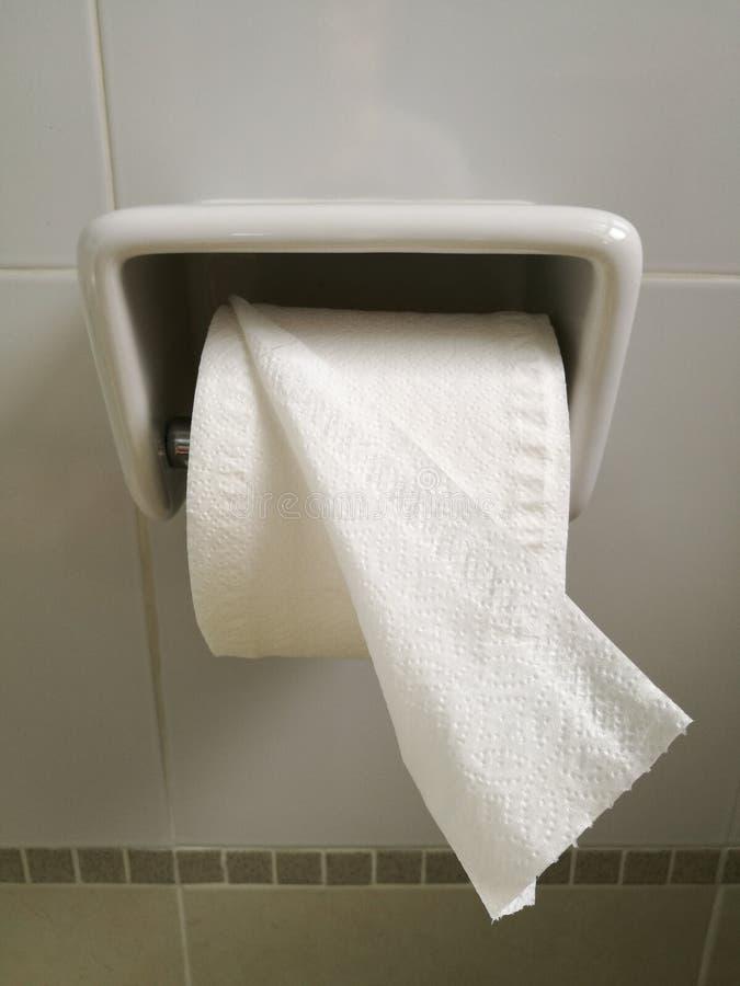 Broodje van toiletpapier stock afbeelding