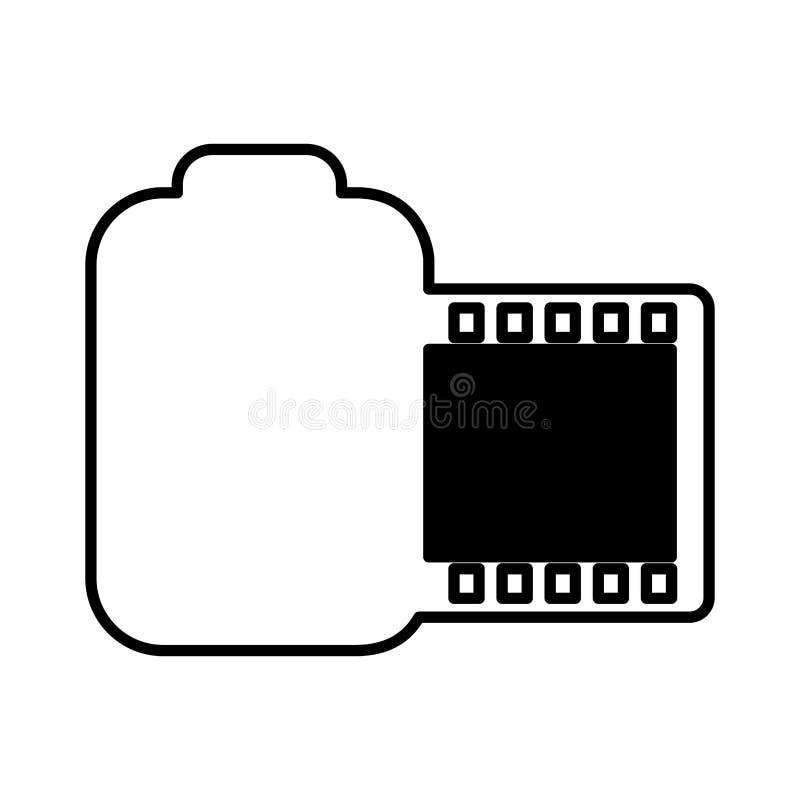 Broodjes fotografisch geïsoleerd pictogram stock illustratie