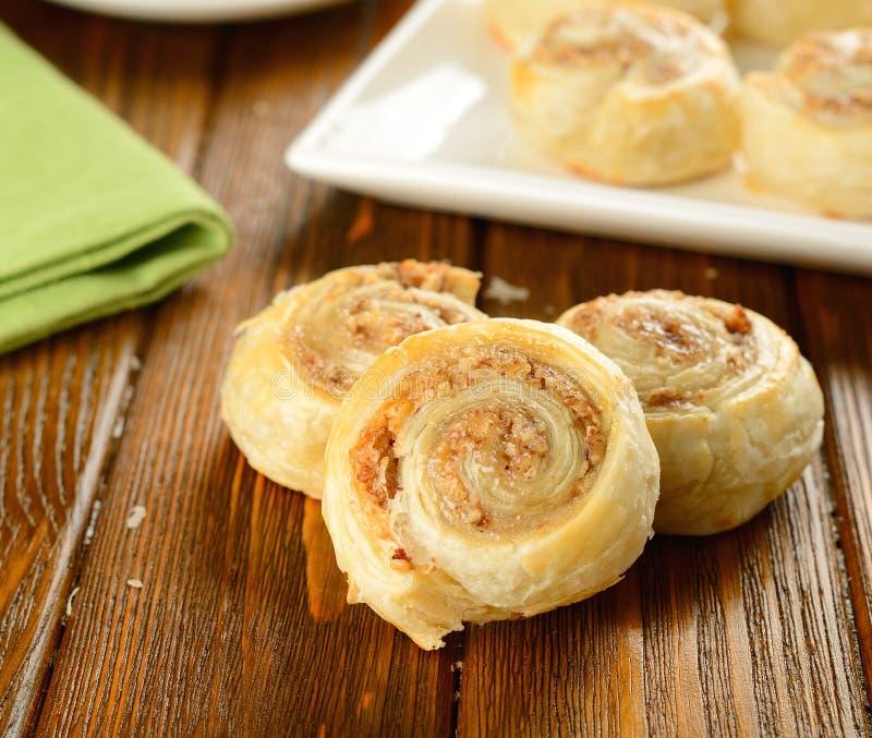 Broodjes met noot het vullen stock foto