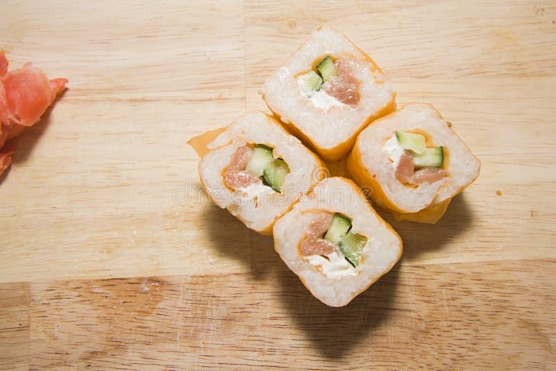 Broodjes met zalm royalty-vrije stock foto