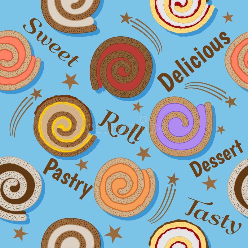 Broodjes naadloos patroon stock foto's