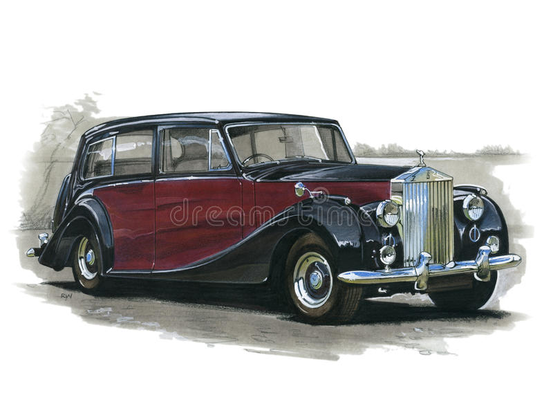Broodjes Royce Silver Wraith vector illustratie