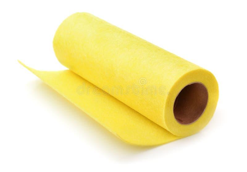 Broodjes van gele gevoelde stof stock foto