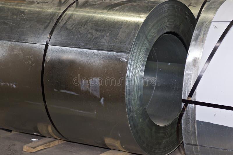 Broodjes van koudgewalst gegalvaniseerd staal in voorraad stock foto