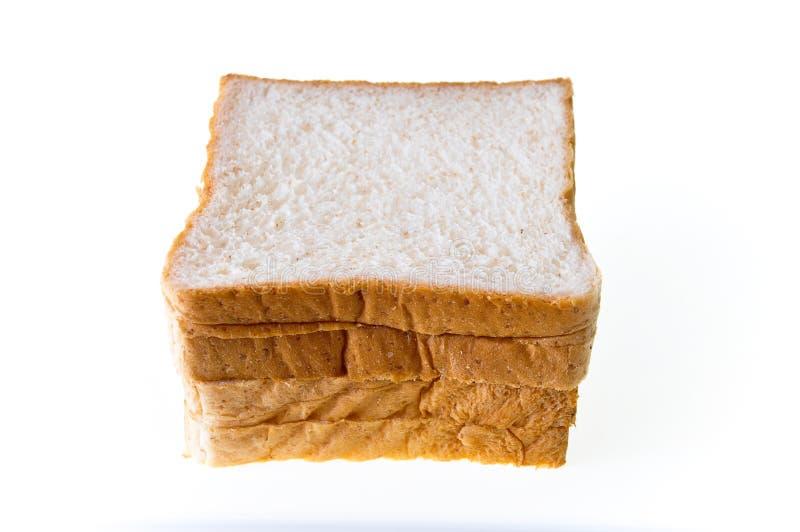 Broodplak op een witte achtergrond wordt geïsoleerd die royalty-vrije stock afbeeldingen