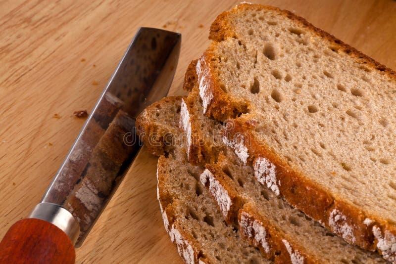 Broodplakken van donker brood royalty-vrije stock foto's