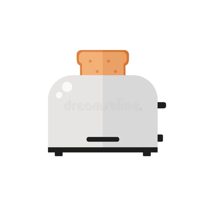 Broodrooster geïsoleerd pictogram op witte achtergrond royalty-vrije illustratie