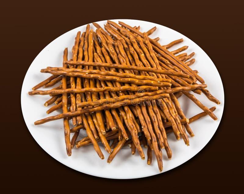 Broodstok of pretzel stock foto