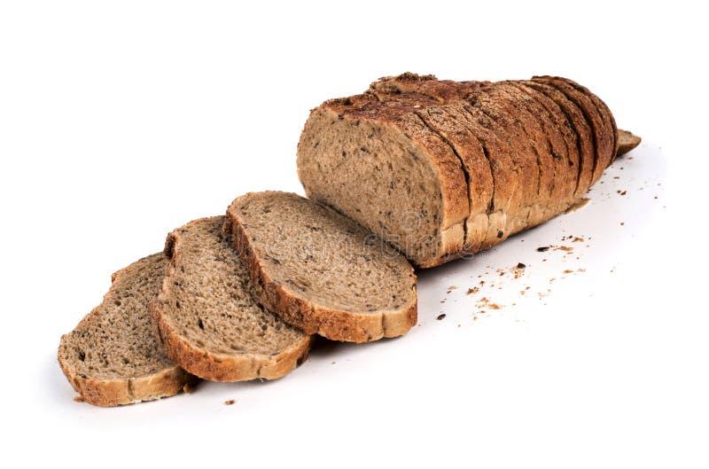Broodtoosts op witte achtergrond worden ge?soleerd die royalty-vrije stock foto's