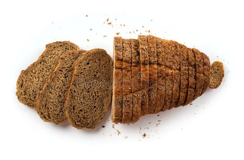 Broodtoosts op witte achtergrond worden ge?soleerd die royalty-vrije stock afbeeldingen