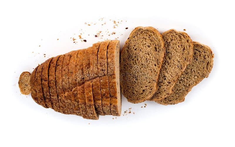 Broodtoosts op witte achtergrond worden ge?soleerd die stock foto's