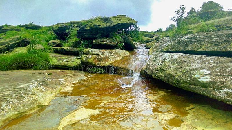 Brook by the wayside. royalty free stock photography