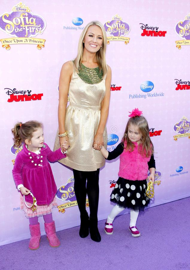 Brooke Anderson. At the Los Angeles premiere of `Sofia the First: Once Upon a Princess` held at the Disney Studios in Los Angeles, United States on November 10 stock images