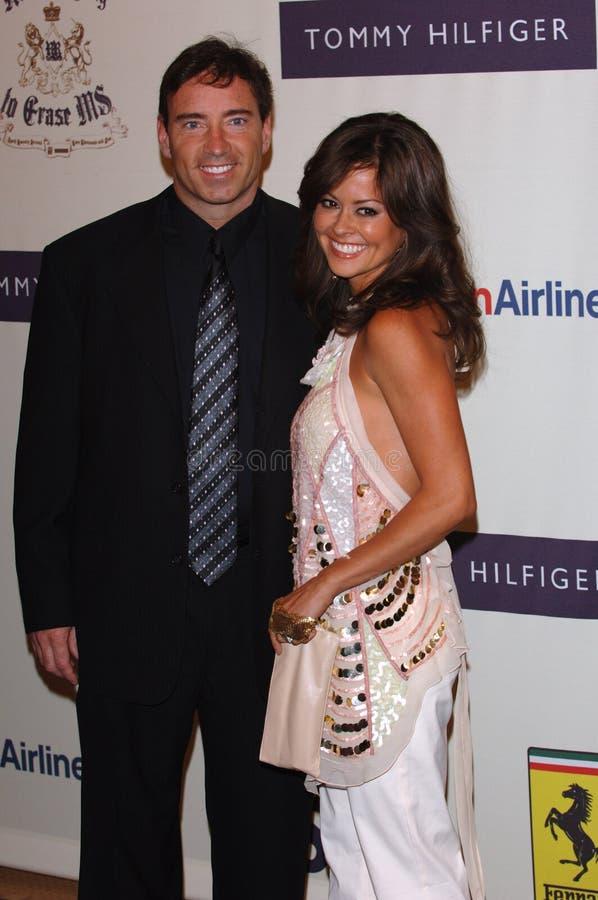 Brooke Burke, Garth Fisher royalty-vrije stock foto