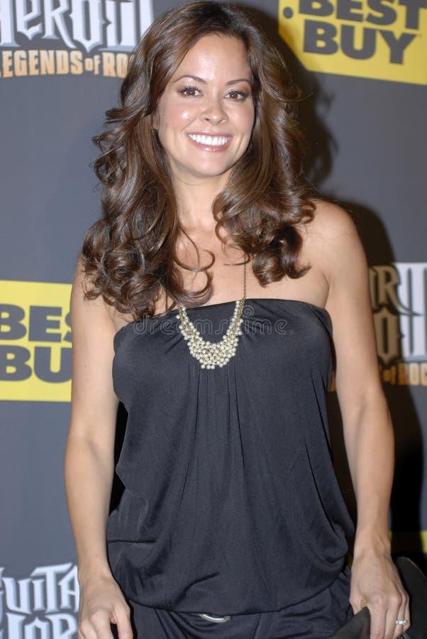 Brooke Burke op het rode tapijt royalty-vrije stock afbeelding