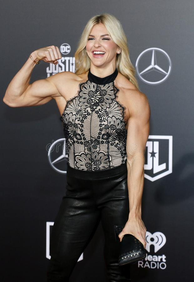 Brooke Ence. At the World premiere of `Justice League` held at the Dolby Theatre in Hollywood, USA on November 13, 2017 royalty free stock images
