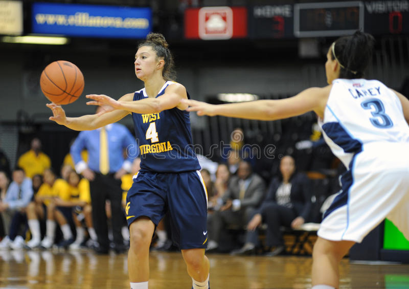 Brooke Hampton - WVU ladies hoops royalty free stock photos