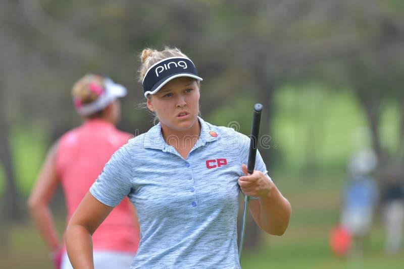 Brooke M Henderson dans Honda LPGA Thaïlande 2018 photographie stock libre de droits
