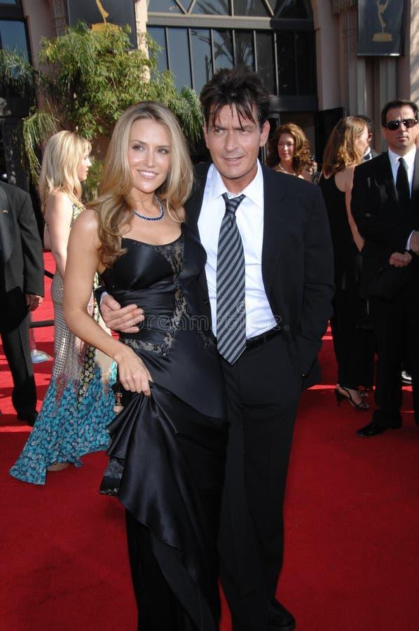 Brooke Mueller,Charlie Sheen stock image