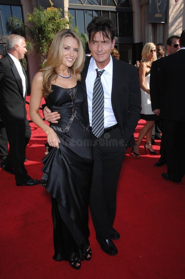 Brooke Mueller,Charlie Sheen royalty free stock photos
