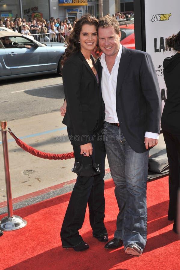 Brooke Shields, Chris Henchy royalty-vrije stock foto