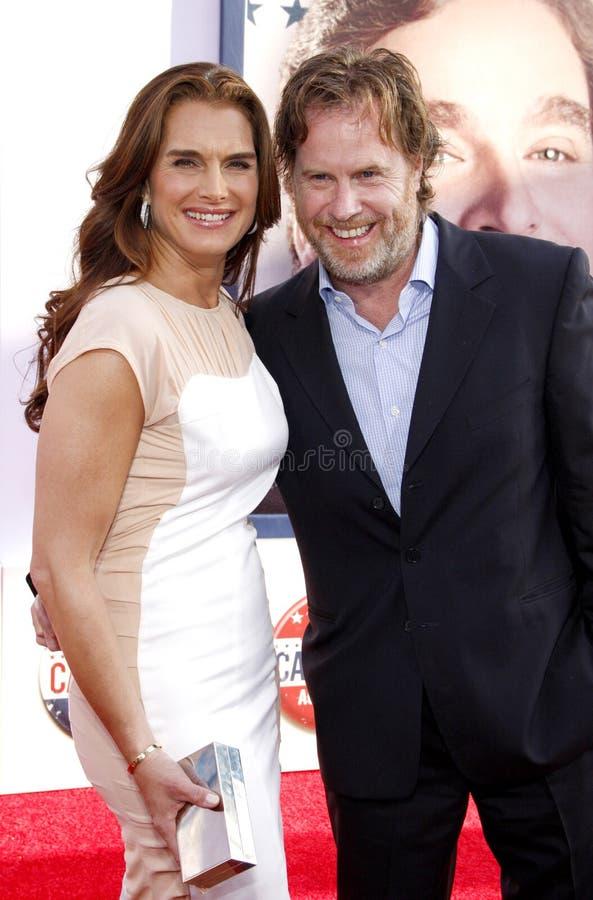 Brooke Shields en Chris Henchy royalty-vrije stock foto's