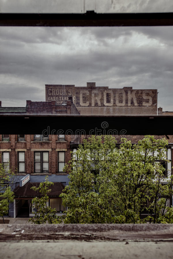 Brookes byggnad - östliga Liverpool, Ohio royaltyfri foto