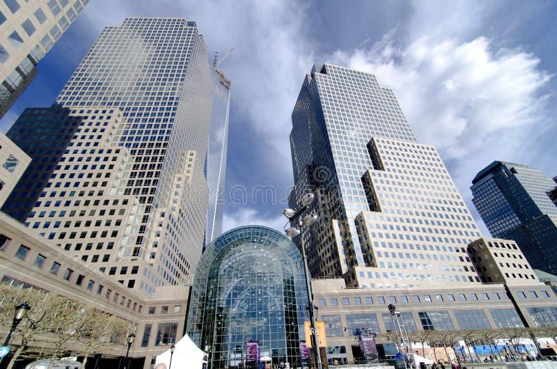 Brookfield plaatst vroeger het Wereld Financiële Centrum royalty-vrije stock foto