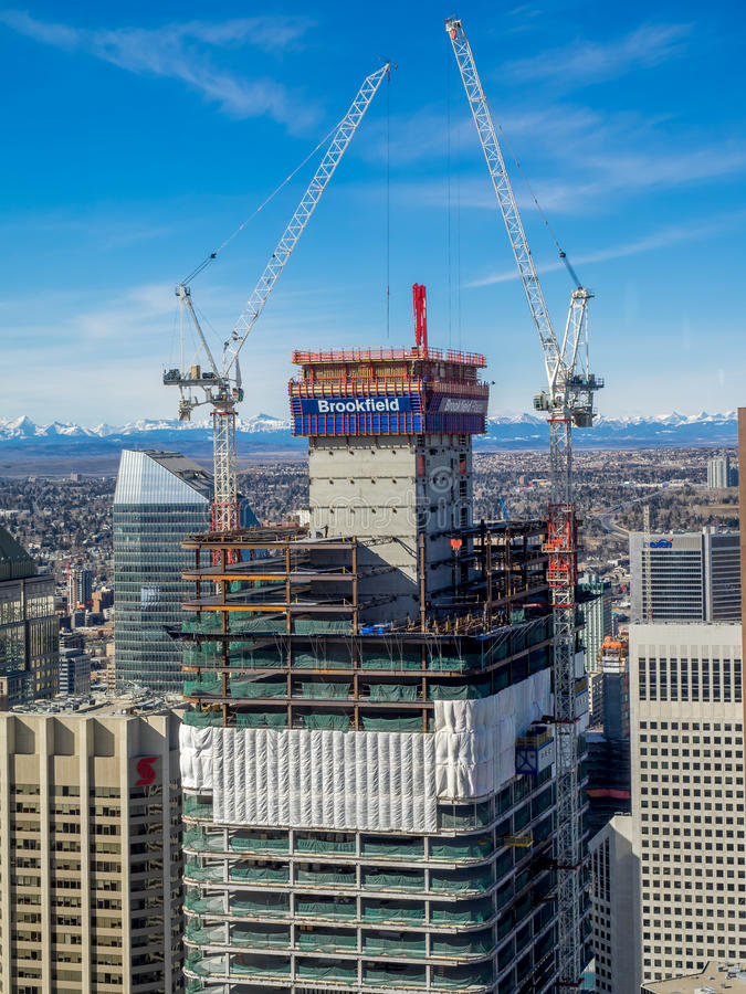 Free Brookfield Place Office Tower Under Construction Royalty Free Stock Images - 68547769