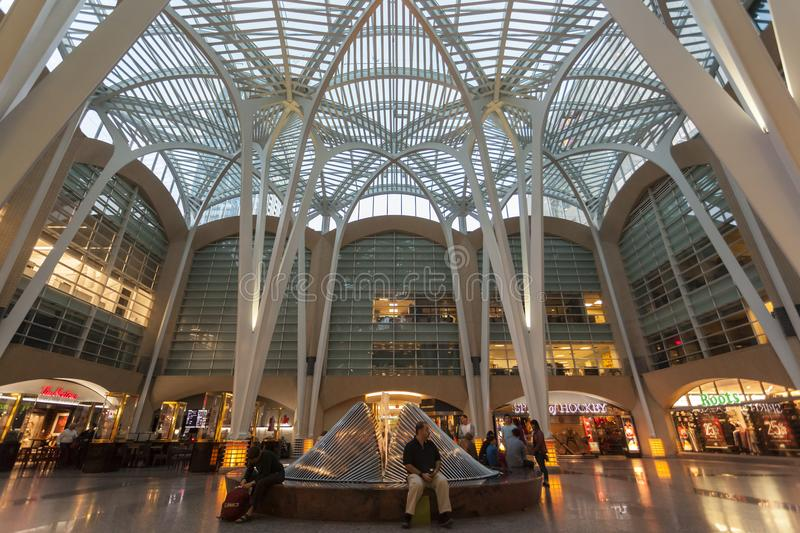 Brookfield Place, Toronto, Canada. Toronto, Canada - Oct 21, 2017: Interior of the Brookfield Place in Toronto. Brookfield Place is an office and shopping stock photos