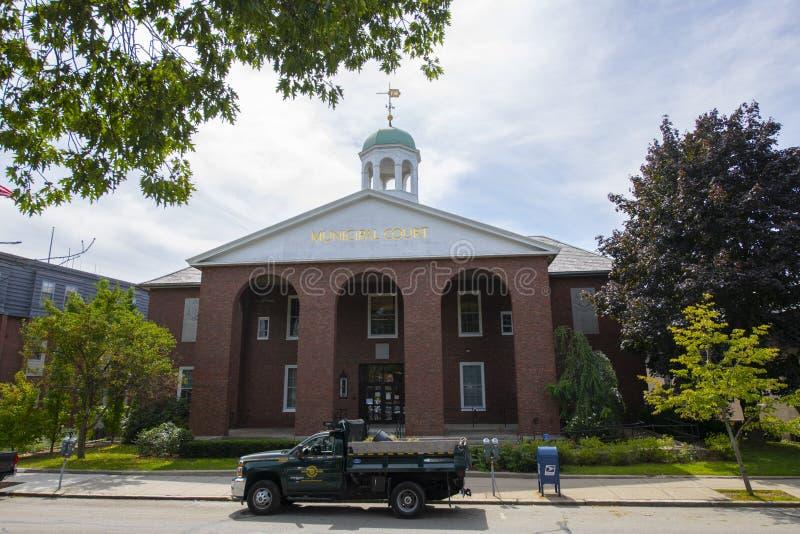 Brookline District Court, Brookline, Massachusetts MA, USA. Brookline District Court at 360 Washington Street in Brookline Village, town of Brookline stock photo