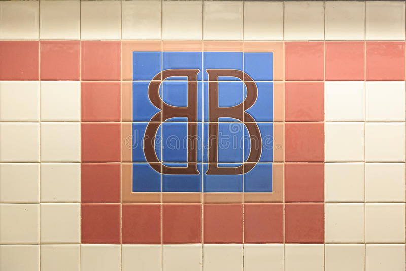 Brooklym Bridge Station Sign royalty free stock photography