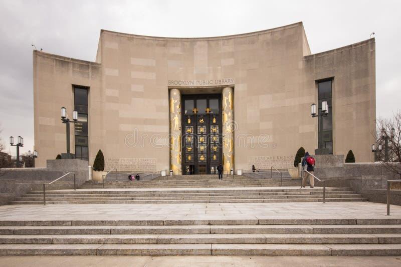 Brooklyn-öffentliche Bibliothek stockbilder