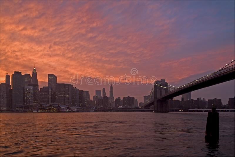 Brooklyn överbryggar arkivbild